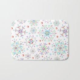 Snowflake Kaleidoscope Bath Mat
