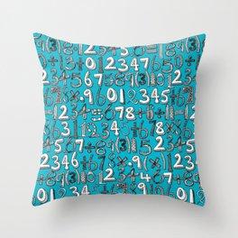 math doodle blue Throw Pillow