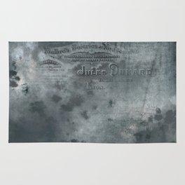 Dark grey letter vintage batic look Rug