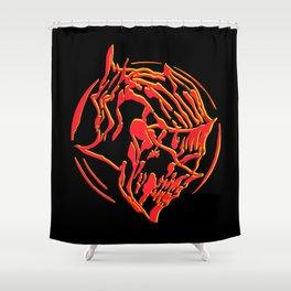 Ember Knight Shower Curtain