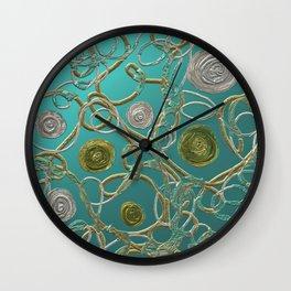 GOLD & SILVER ABSTRACT Wall Clock