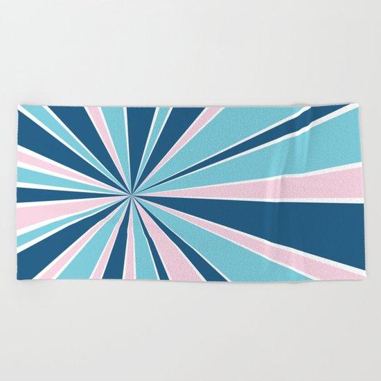 Starburst Pink and Blue Beach Towel