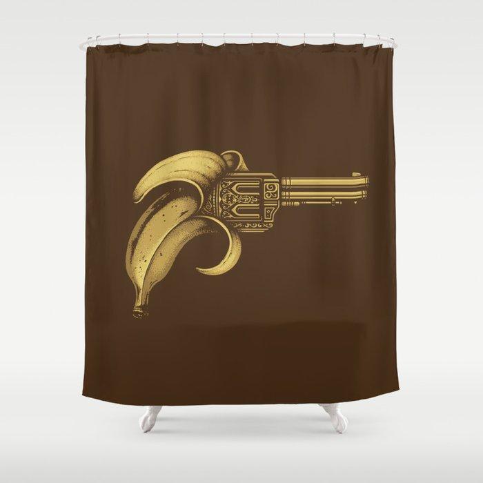 Banana Gun Shower Curtain By Buko2
