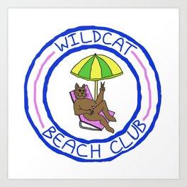 WILDCAT BEACH CLUB Art Print
