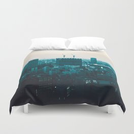 Osaka morning Duvet Cover