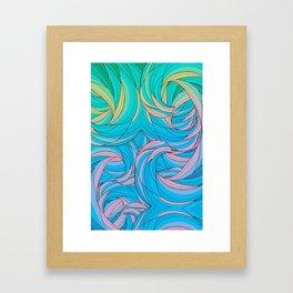 Sun Light Waves Framed Art Print