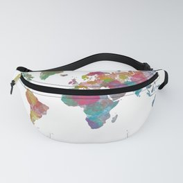 World Map - Watercolor 3 Fanny Pack