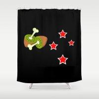 politics Shower Curtains featuring Kiwi Fruit New Zealand Flag by mailboxdisco