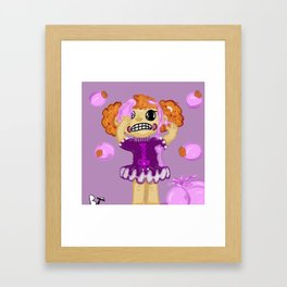 Psycho Dollies Bubblegum Hair Framed Art Print