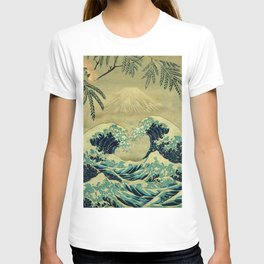 The Great Blue Embrace at Yama T-shirt