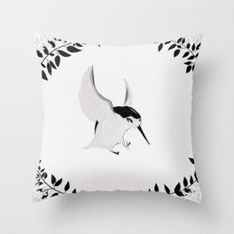 Hummingbird Reprise Throw Pillow