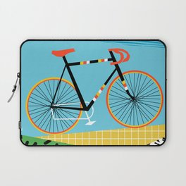 Roadie - peugeot px10, bicycle art print, cycling art, gifts for cyclists, memphis art print Laptop Sleeve