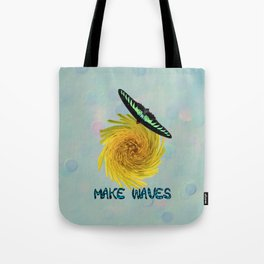 Cute Butterfly Sunny Yellow Floral Swirl Inspiration Tote Bag