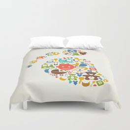 Kid a trace Duvet Cover