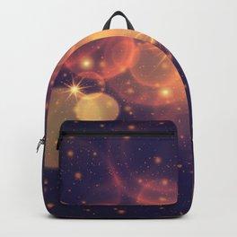 Shiny Sparkling Festive Holiday Bokeh Decorative Backpack