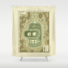 Popography: Bender Basin Shower Curtain