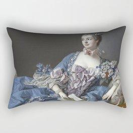 Francois Boucher - Madame De Pompadour Rectangular Pillow