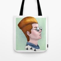 tim shumate Tote Bags featuring TIM ACID by Greenteaelf