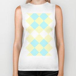 Checkers Yellow/Blue Biker Tank