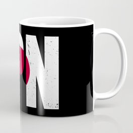 Grunge Japanese Flag Coffee Mug