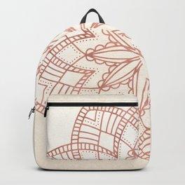 Flowery Rose Gold Mandala on Cream IV Backpack