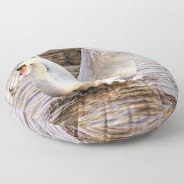 Elegant Swan Floor Pillow