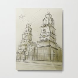 The cathedral of Morelia Metal Print