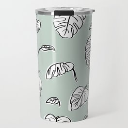 Swiss Cheese Plant Leaves Travel Mug