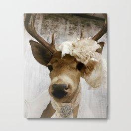 Shabby Chic Deer Metal Print