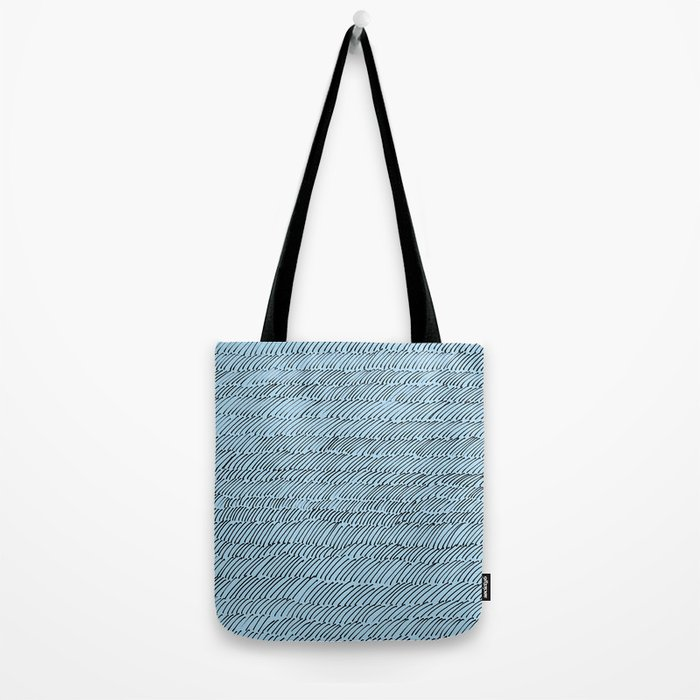 Penstrokes on Blue Tote Bag