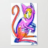 kangaroo Canvas Prints featuring Kangaroo by Dawn Patel Art