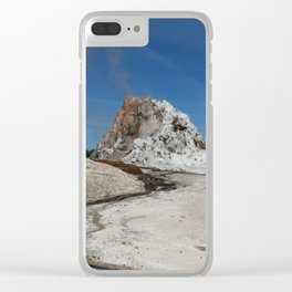 White Dome Clear iPhone Case