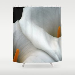 Two Calla Lily Flowers Together Shower Curtain