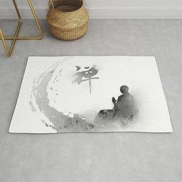 buddha and moon Rug