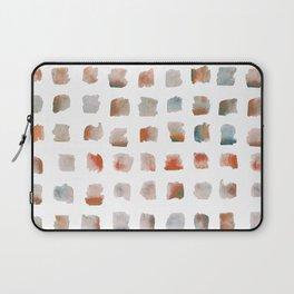 Watercolor Brushstrokes Abstract Geometrical Pattern Laptop Sleeve