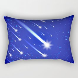 Space background with stars and comets Rectangular Pillow