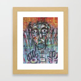 Trapped in Dialogue (The Scream 2) Framed Art Print