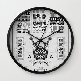 Legend of Zelda - The Hylian Shield Foundry Wall Clock