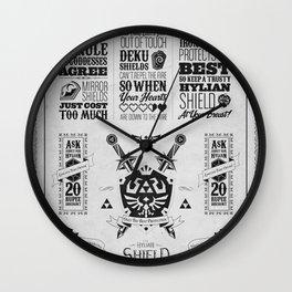 Legend of Zelda - The Hylian Shield Foundry Wall Clock