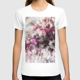 Modern Abstract Painting in Purple and Pink Tones T-shirt