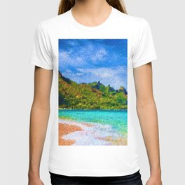 Pacific Isles, A Landscape Painting by Jeanpaul Ferro T-shirt