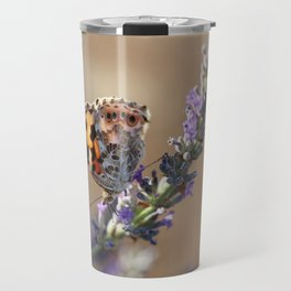Painted Lady Buttefly Travel Mug
