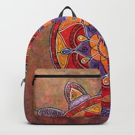 Autumn Turtle - yin yang mandala Backpack