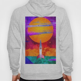 Colorful Outer Space Spaceship Hoody