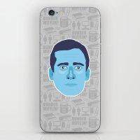 michael scott iPhone & iPod Skins featuring Michael Scott - The Office by Kuki