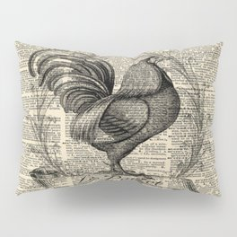 western country french chicken kitchen art farmhouse rooster Pillow Sham