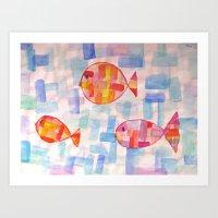 Fishi fish Art Print