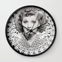 lucy Wall Clocks featuring lucy by RULES OF REFRACTION