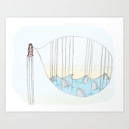 Toen bleek het een goudvis..... Art Print