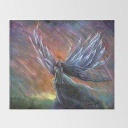 Rainbow Phoenix Fairy Throw Blanket